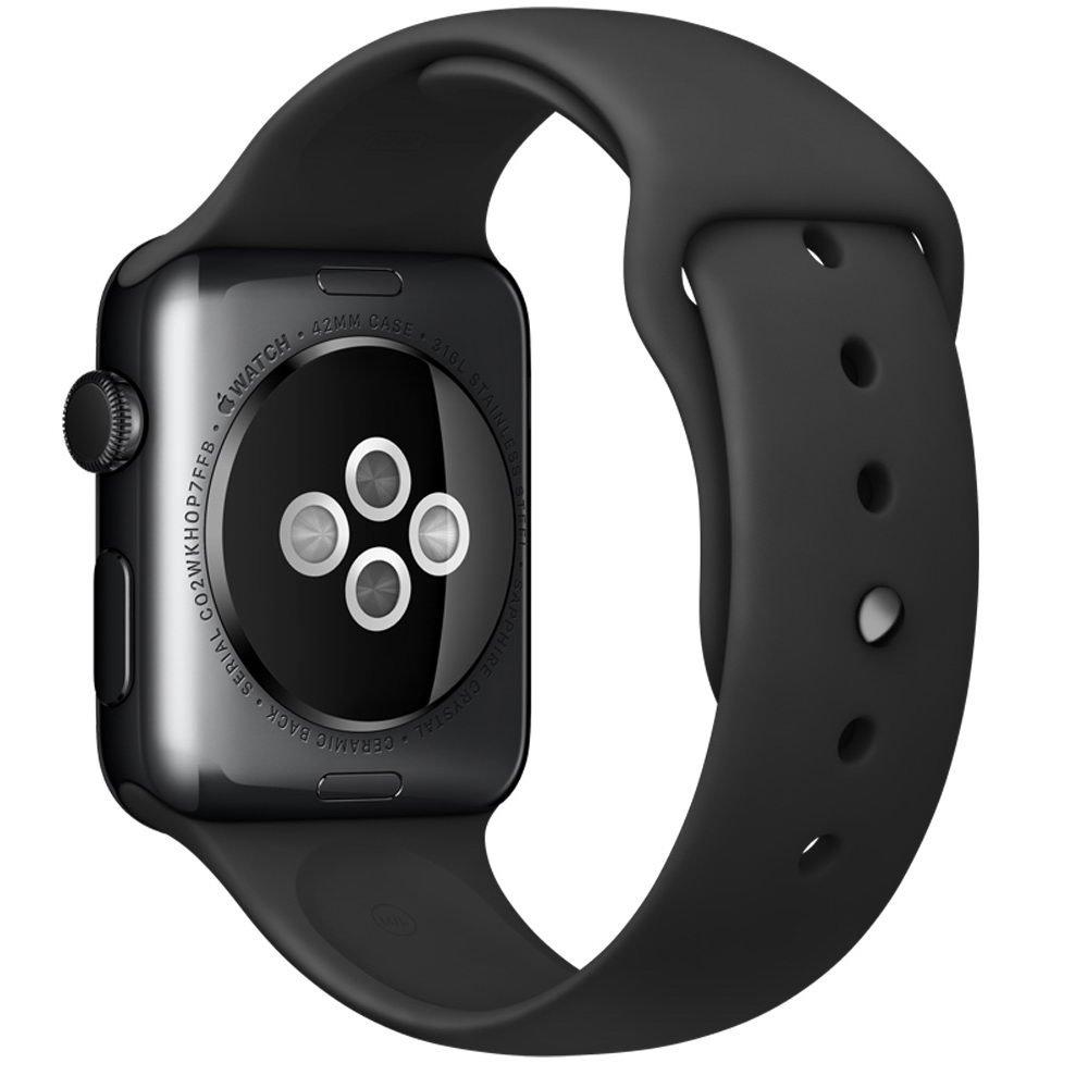 Ремешок для Apple Watch 42/44 мм - Coteetci W3 чёрный