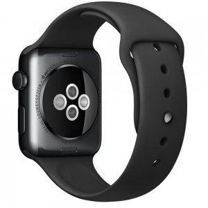 Ремешок для Apple Watch 42мм - Coteetci W3 чёрный
