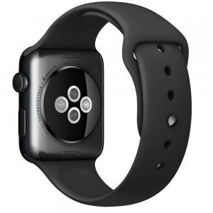 Ремешок для Apple Watch 42/44 мм - Coteetci W3 чёрный