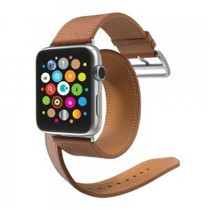 Ремешок для Apple Watch 42мм - Coteetci W9 коричневый