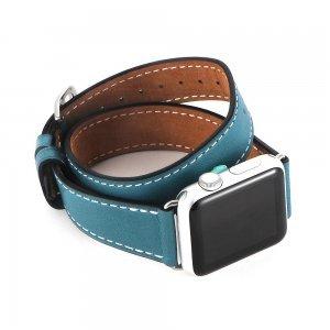 Ремешок для Apple Watch 38мм - Coteetci W9 голубой