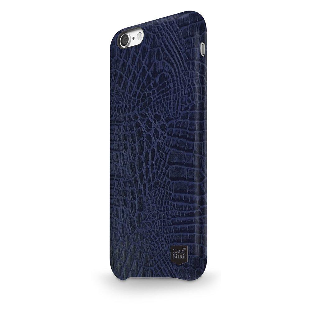 Ультратонкий чехол CaseStudi Croco синий для iPhone 8/7