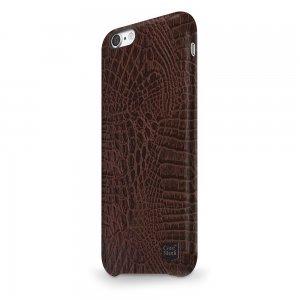Ультратонкий чехол CaseStudi Croco коричневый для iPhone 8/7