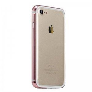 Металлический бампер Coteetci розовый для iPhone 7/8/SE