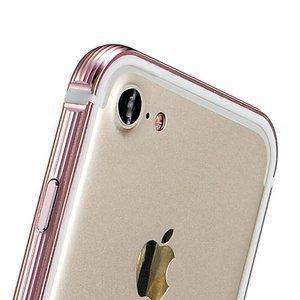 Металлический бампер Coteetci розовый для iPhone 7/8
