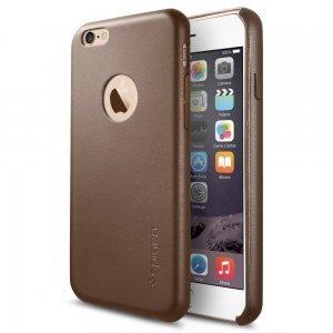 Чехол-накладка для Apple iPhone 6 - SGP Leather Fit коричневый