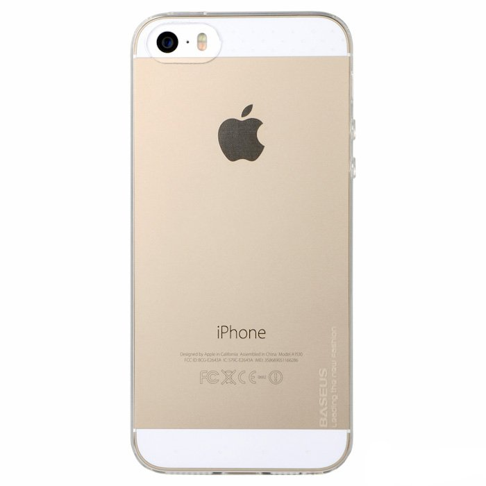 Чехол-накладки для Apple iPhone 5/5S - BASEUS Air белый