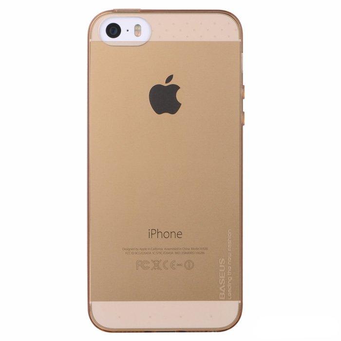 Чехол-накладка для Apple iPhone 5/5S - BASEUS Air золотистый