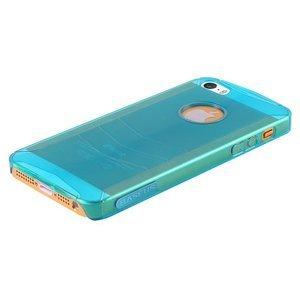 Пластиковый чехол BASEUS Ultra-thin голубой для iPhone 5/5S/SE