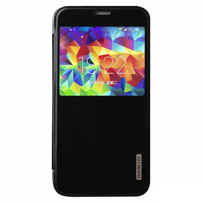 Чехол (книжка) BASEUS Primary color черный для Samsung Galaxy S5