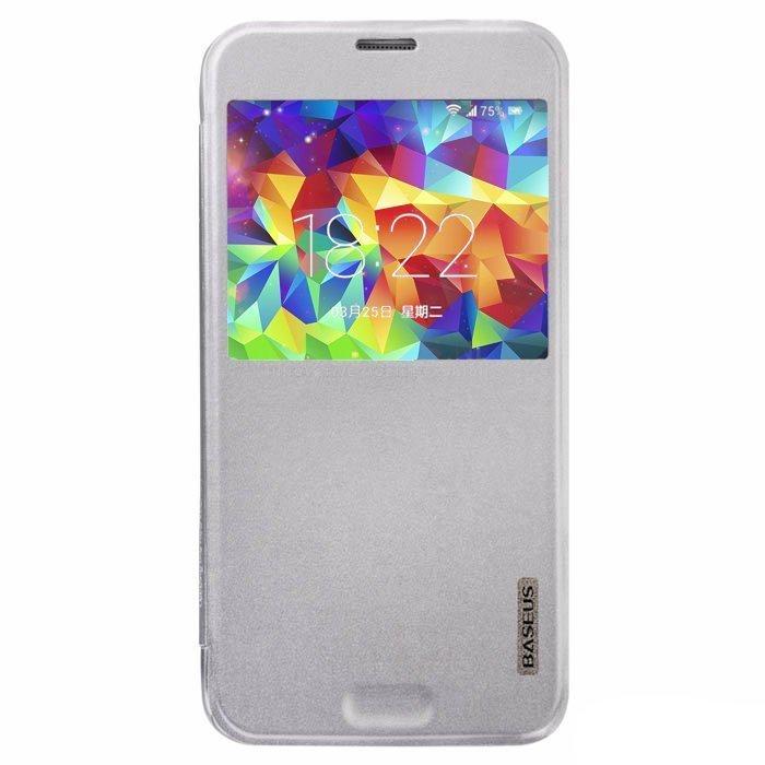 Чехол (книжка) BASEUS Primary color серебристый для Samsung Galaxy S5