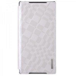 Чехол (книжка) Baseus Brocade белый для Sony Xperia Z2