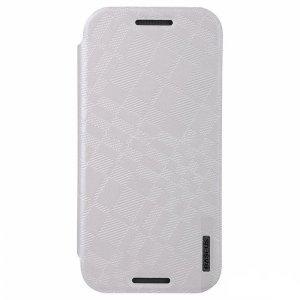 Чехол (книжка) Baseus Brocade белый для HTC One M8