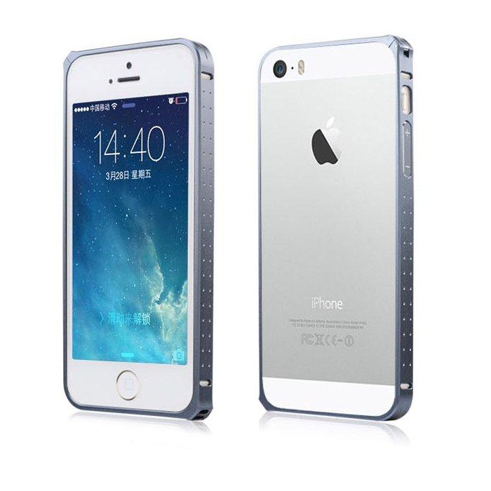 Чехол-бампер для Apple iPhone 5/5S - BASEUS Sky Light серебристый