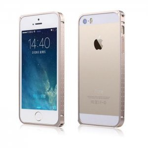 Чехол-бампер для Apple iPhone 5/5S - BASEUS Sky Light золотистый