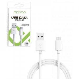 Кабель Micro-USB Optima белый