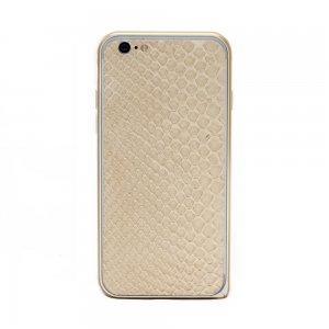 Наклейка для Apple iPhone 6/6S - кожа змеи, бежевая
