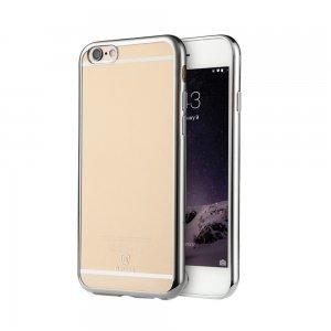 Силиконовый чехол Baseus Shining серебристый для iPhone 6/6S