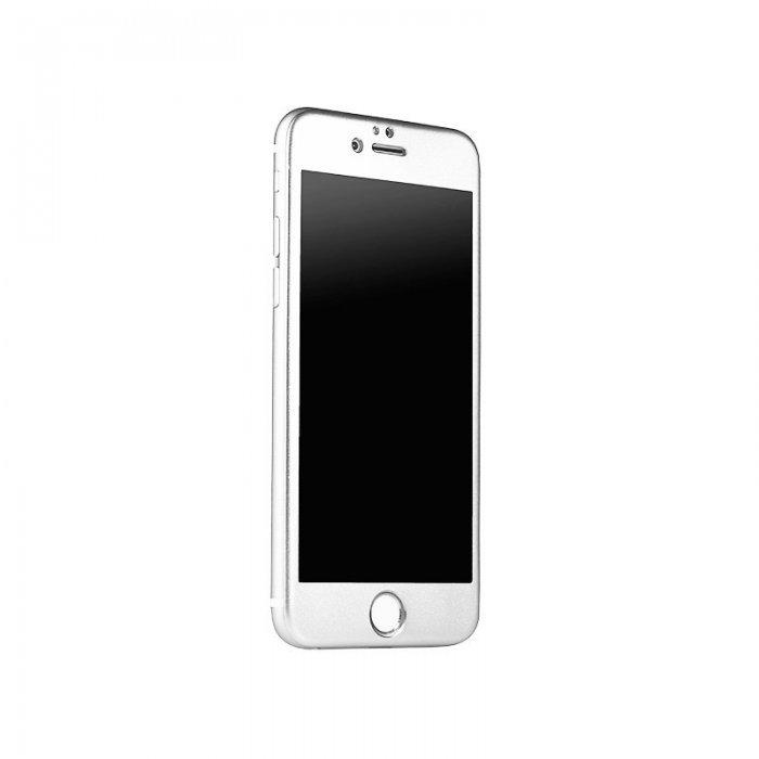 Защитное стекло iBacks Full прозрачный + серебристый для iPhone 6/6S