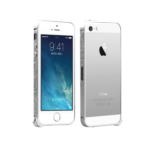 Чехол-бампер для Apple iPhone 5/5S - iBacks Cameo Venezia серебристый