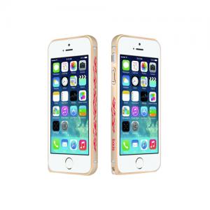 Чохол-бампер для Apple iPhone 5 / 5S - iBacks Cameo Flame золотистий