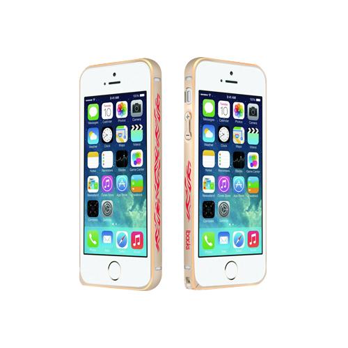 Чехол-бампер для Apple iPhone 5/5S - iBacks Cameo Flame золотистый