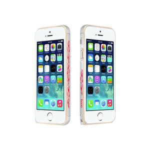 Чохол-бампер для Apple iPhone 5 / 5S - iBacks Cameo Flame сріблястий