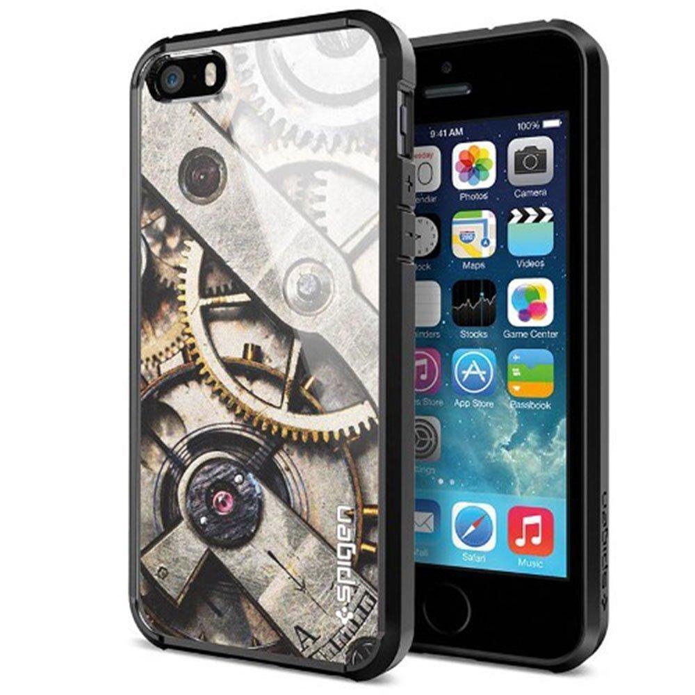 Чехол-накладка для Apple iPhone 5S/5 - SGP Ultra Hybrid прозрачный + серый