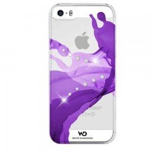 Чехол-накладка для Apple iPhone 5S/5 - White Diamonds Liquids фиолетовый