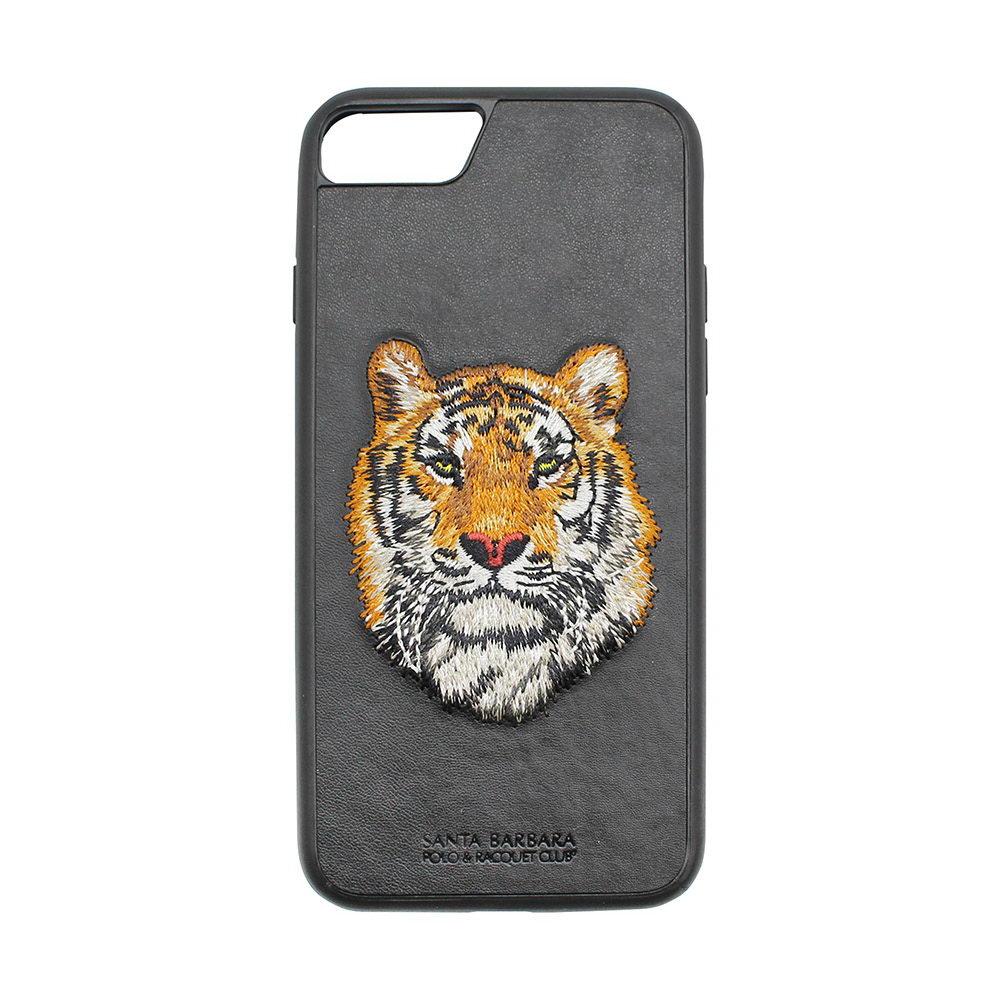 Кожаный чехол Polo Savanna Bengal чёрный для iPhone 8/7/6/6S/SE 2020
