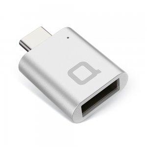 Переходник NoNDA с USB на USB-C серебристый