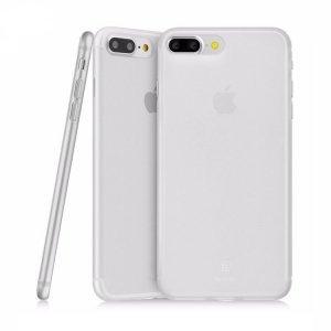 Полупрозрачный чехол Baseus Slim белый для iPhone 8 Plus/7 Plus
