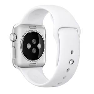 Ремешок для Apple Watch 38mm - Apple Sport Band белый (MJ4E2)