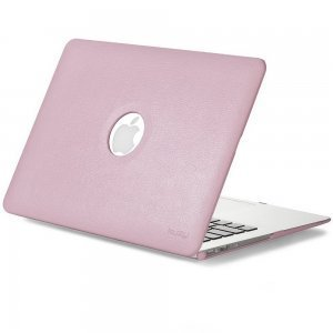 "Чехол-накладка для Apple MacBook Air 13"" - Kuzy Leather Hard Case светло-розовый"