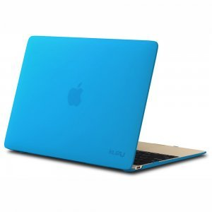 "Чехол-накладка для Apple MacBook 12"" - Kuzy Rubberized Hard Case голубой (Aqua Blue)"