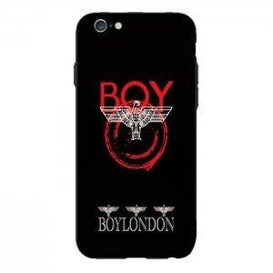 Чехол с рисунком WK Boy London черный + красный для iPhone 6/6S