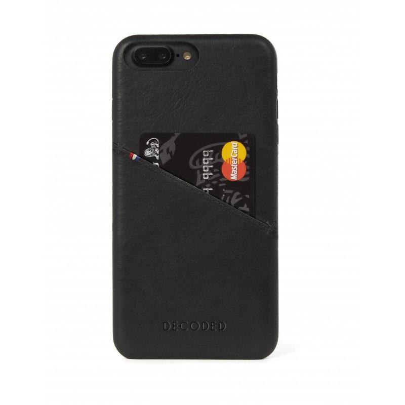 Кожаный чехол Decoded Back Cover черный для iPhone 8 Plus/7 Plus