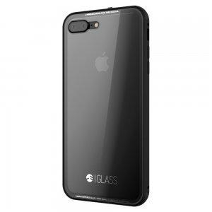 Стеклянный чехол SwitchEasy Glass прозрачный + черный для iPhone 7 Plus