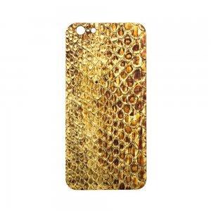 Наклейка для Apple iPhone 6 - кожа питона, золотистая