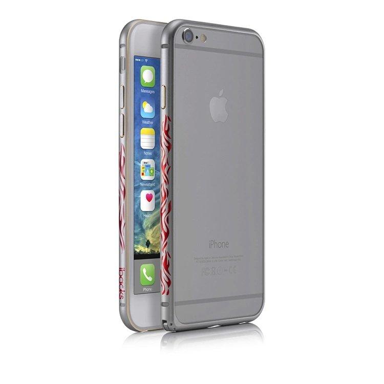 Бампер с рисунком iBacks Cameo Flame черный для iPhone 6