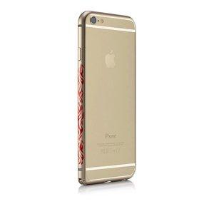 Бампер с рисунком iBacks Cameo Flame золотой для iPhone 6