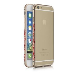 Чехол-бампер для Apple iPhone 6 Plus - iBacks Flame золотистый
