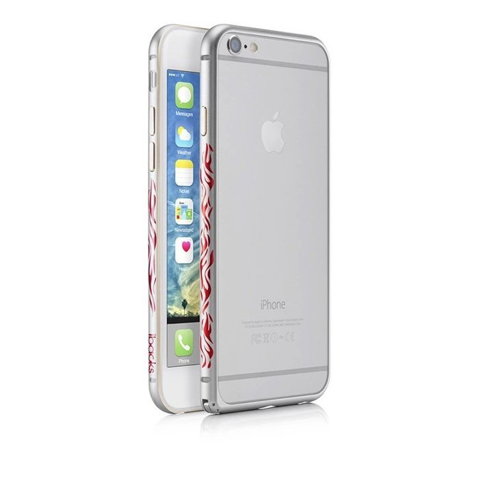 Чехол-бампер для iPhone 6 Plus/6S Plus - iBacks Flame серебритистый