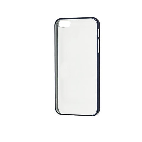 Чехол-накладка для Apple iPhone 5/5s - Transparent PC Electroplating Border черный