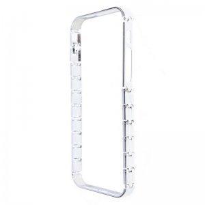 Бампер Knuckle серебристый для iPhone 5/5S/SE