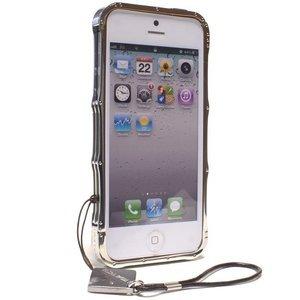 Чехол-бампер для Apple iPhone 5/5S - iMatch Stainless Steel серебристый
