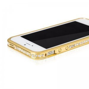 Чехол-бампер для Apple iPhone 5/5S Diamond Crystal золотистый