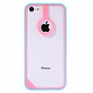 Бампер Baseus New Age голубой + розовый для iPhone 5C