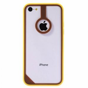 Бампер Baseus New Age коричневый + желтый для iPhone 5C