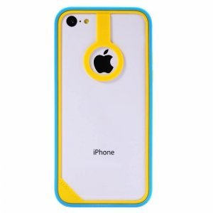 Бампер Baseus New Age желтый + голубой для iPhone 5C